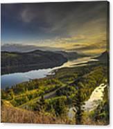 Columbia River Gorge At Sunrise Canvas Print