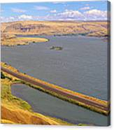 Columbia River In Oregon, Viewed Canvas Print