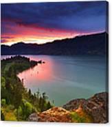 Columbia Sunset Canvas Print