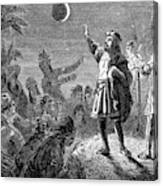 Columbus And The Lunar Eclipse, 1504 Canvas Print