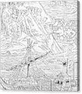 Columbus Arriving At Guanahani Canvas Print