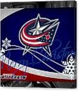 Columbus Blue Jackets Christmas Canvas Print