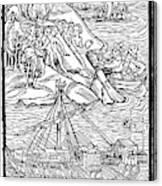 Columbus Hispaniola, 1492 Canvas Print