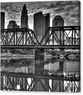 Columbus Ohio Downtown Bw Canvas Print