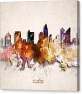 Columbus Painted City Skyline Canvas Print