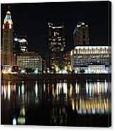 Columbus Skyline At Night Canvas Print