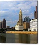 Columbus Skyline Canvas Print