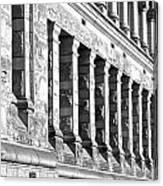 Columnar Facade Canvas Print