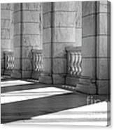Columns And Shadows Canvas Print
