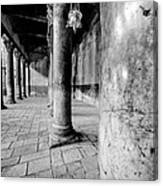Columns At The Church Of Nativity Black And White Vertical Canvas Print