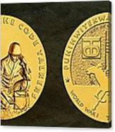 Comanche Nation Tribe Code Talkers Bronze Medal Art  Canvas Print