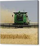 Combine Working A Field On The Canvas Print