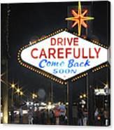 Come Back Soon Las Vegas  Canvas Print