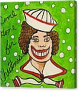 Come Home For Christmas Tillie Canvas Print
