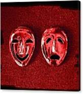 Comedy And Tragedy Masks 4 Canvas Print