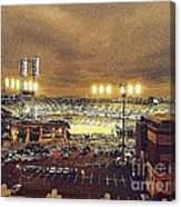 Comerica Night Game 2 Canvas Print