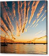 Comet Sunset Canvas Print