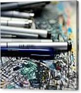 Comic Book Artists Workspace Study 1 Canvas Print