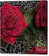 Comic Book Roses Canvas Print
