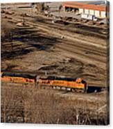 Coming From The Train Yard Canvas Print