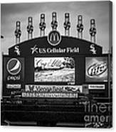 Comiskey Park U.s. Cellular Field Scoreboard In Chicago Canvas Print