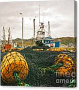 Commercial Fishing In The North Atlantic Canvas Print