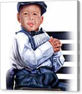 Commissioned - Handsome Baby Boy 1a Canvas Print