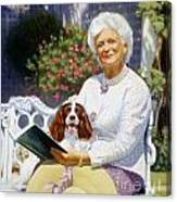 Companions In The Garden Canvas Print