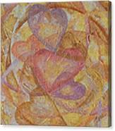Compassion 7 Hearts Canvas Print