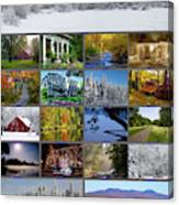 Composite Of Photographs From Various Canvas Print