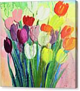 Composition Of Flowers Canvas Print