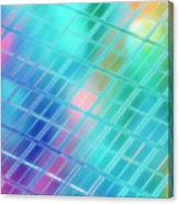 Computer Artwork Of A Semiconductor Wafer Canvas Print