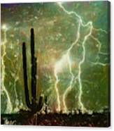 Computer Generated Image Of Lightening Canvas Print