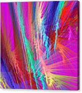 Computer Generated Pink Abstract Fractal Canvas Print
