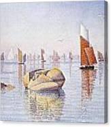 Concarneau   Quiet Morning Canvas Print