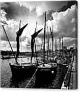 Concarneau Harbour Brittany France Canvas Print