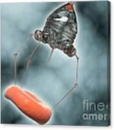 Conceptual Image Of A Nanobot Injecting Canvas Print