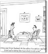 Concerning Your Former Husband Canvas Print
