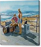 Concert In The Sun To An Audience Of One Canvas Print