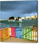 Conch Boats Arriving Canvas Print