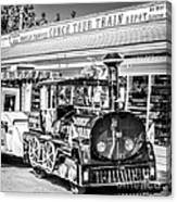 Conch Tour Train 2 Key West - Square - Black And White Canvas Print
