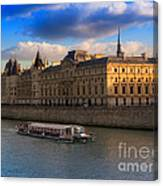 Conciergerie And The Seine River Paris Canvas Print