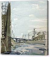 Concrete Los Angeles River Canvas Print