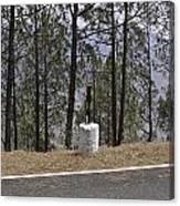 Concrete Pillar On A Highway Canvas Print