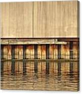 Concrete Wall And Water 1 Canvas Print