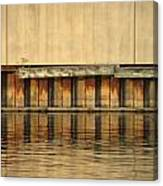 Concrete Wall And Water 2 Canvas Print