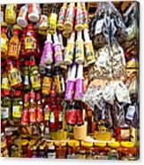 Condiments At Mercade Municipal Canvas Print
