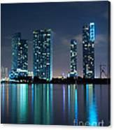 Condominium Buildings In Miami Canvas Print