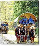 Conestoga Wagons Canvas Print