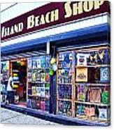 Coney Island Beach Shop Canvas Print